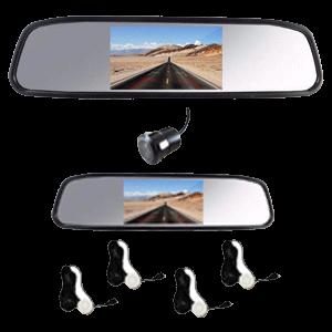 آینه عقب تصویری و دروبین دنده عقب غیرلمسی 4.3 اینچی مشکی کلارو مدل CL-409S